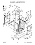 Diagram for 10 - Washer Cabinet Parts