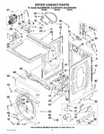 Diagram for 02 - Dryer Cabinet Parts