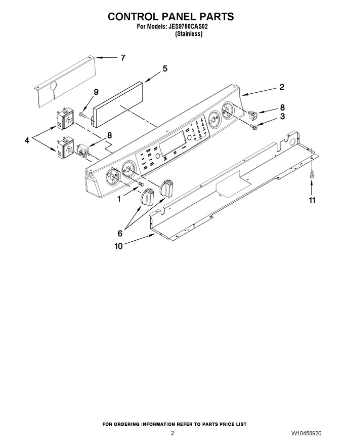 Diagram for JES9750CAS02