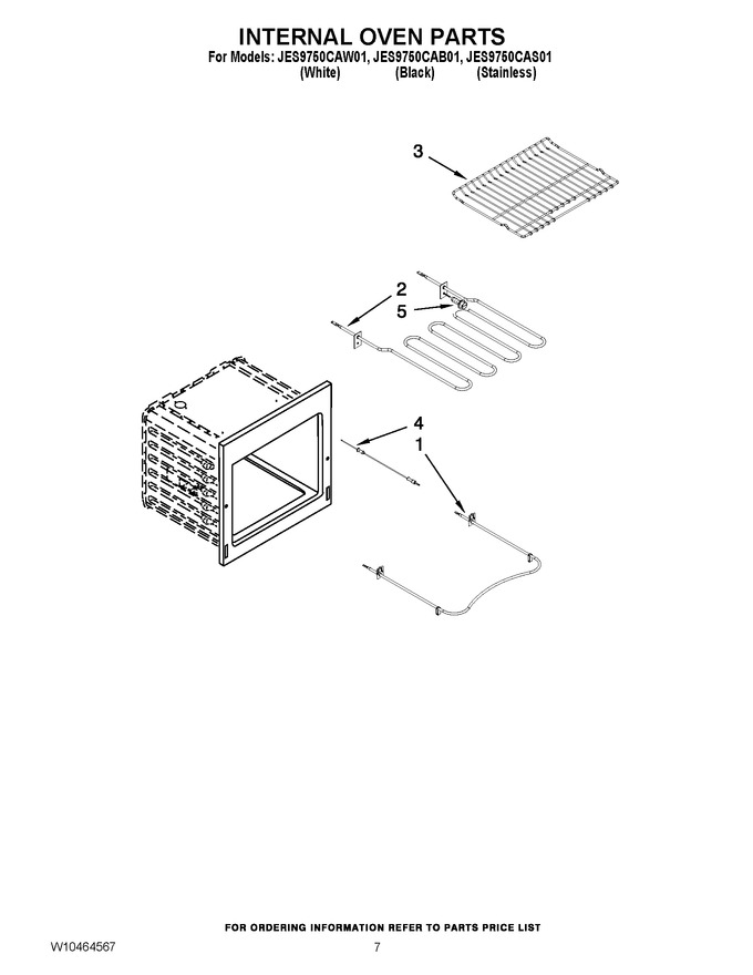 Diagram for JES9750CAB01