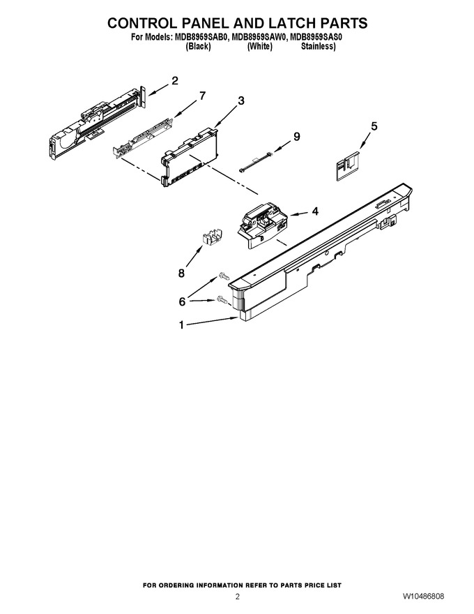 Diagram for MDB8959SAW0
