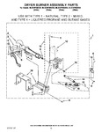Diagram for 06 - Dryer Burner Assembly Part