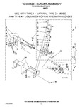 Diagram for 04 - W10135231 Burner Assembly