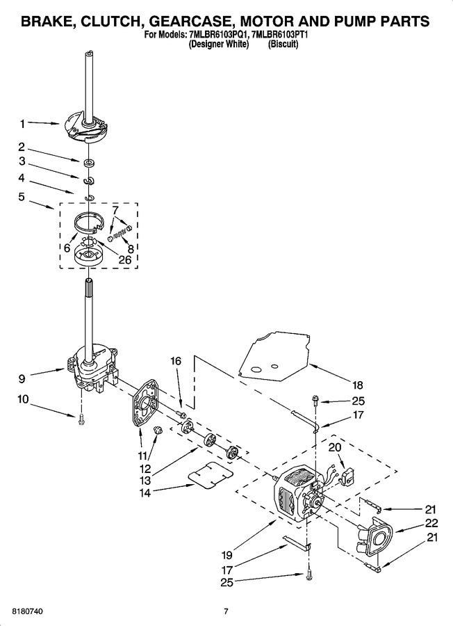 Diagram for 7MLBR6103PT1
