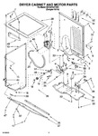 Diagram for 03 - Dryer Cabinet And Motor Parts