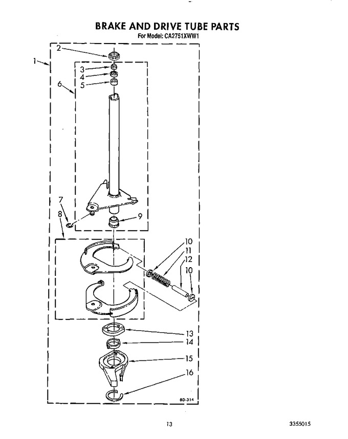 Diagram for CA2751XWW1