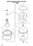 Diagram for 05 - Agitator, Basket And Tub Parts