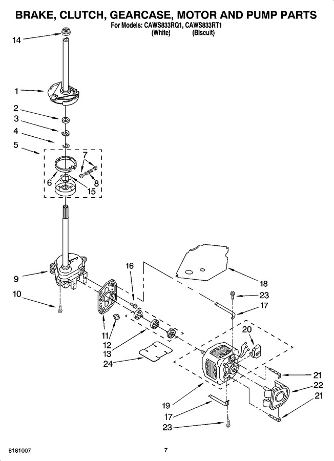 Diagram for CAWS833RQ1