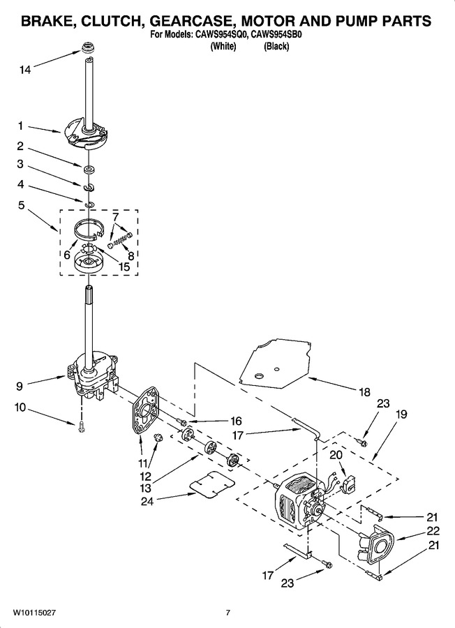 Diagram for CAWS954SB0