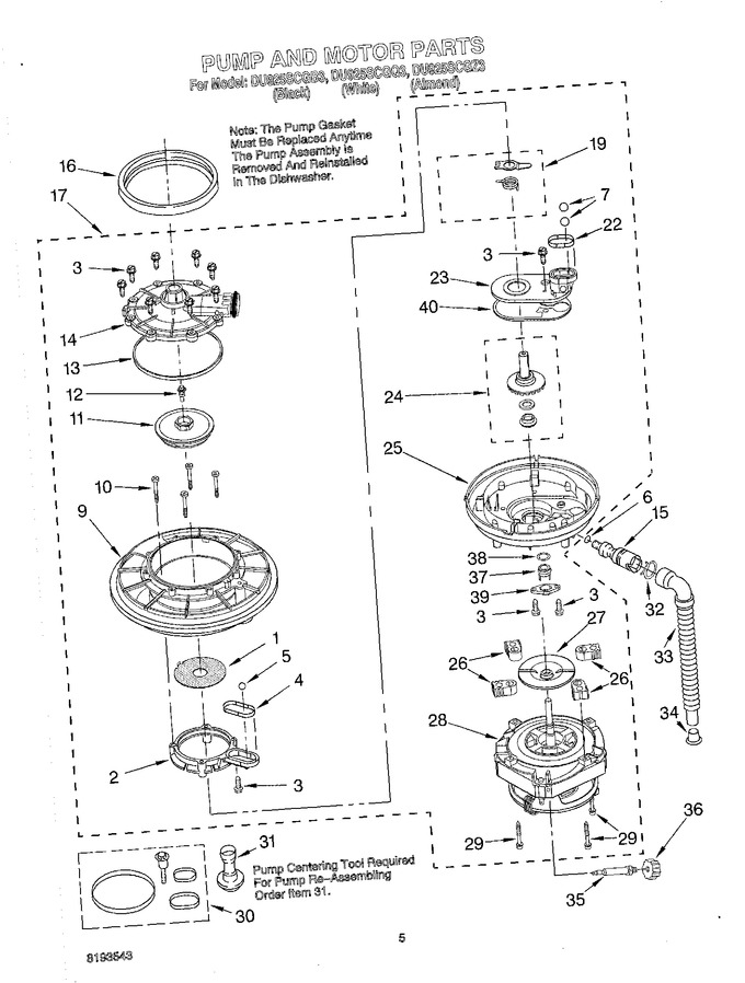 Diagram for DU925SCGB3