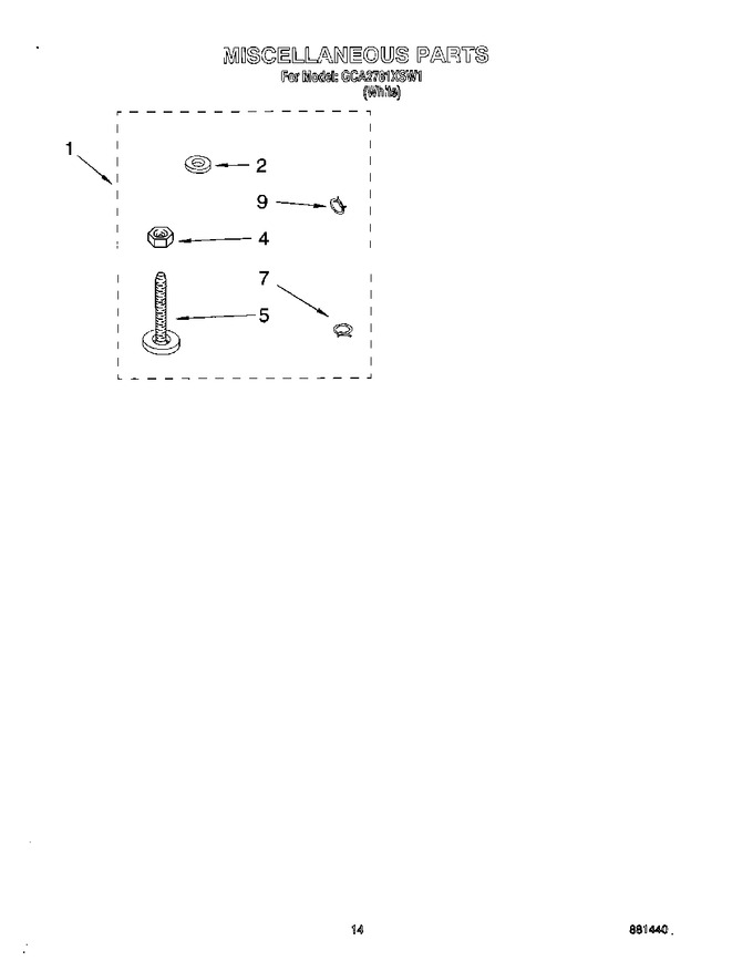 Diagram for GCA2781XSW1