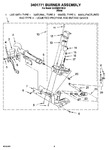 Diagram for 04 - 3401771 Burner Assembly