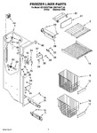 Diagram for 04 - Freezer Liner Parts