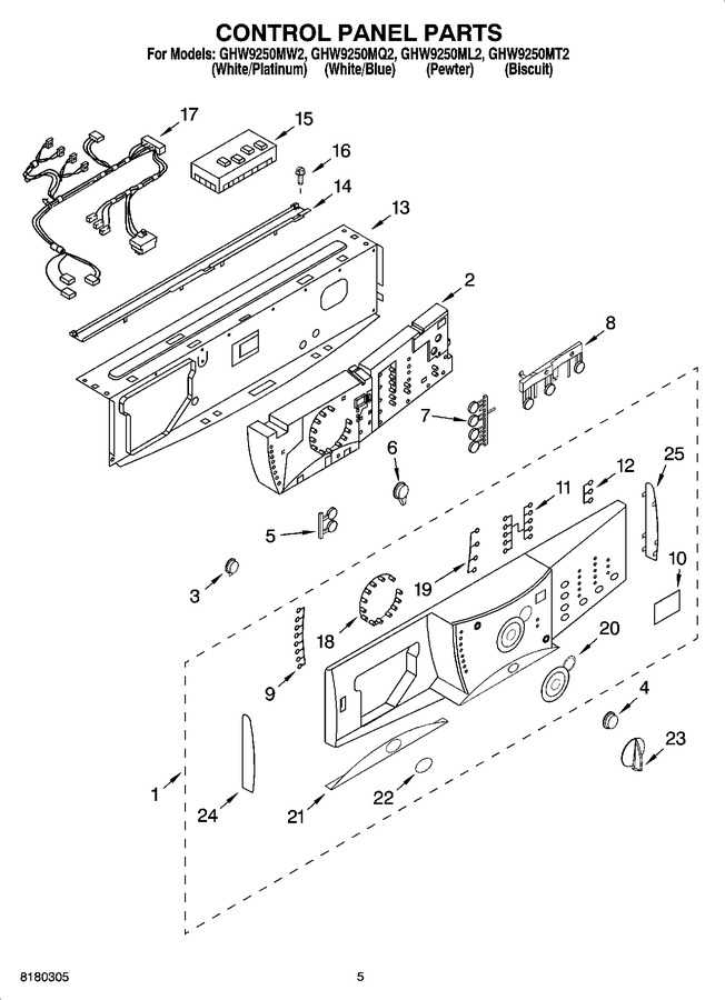 Diagram for GHW9250ML2