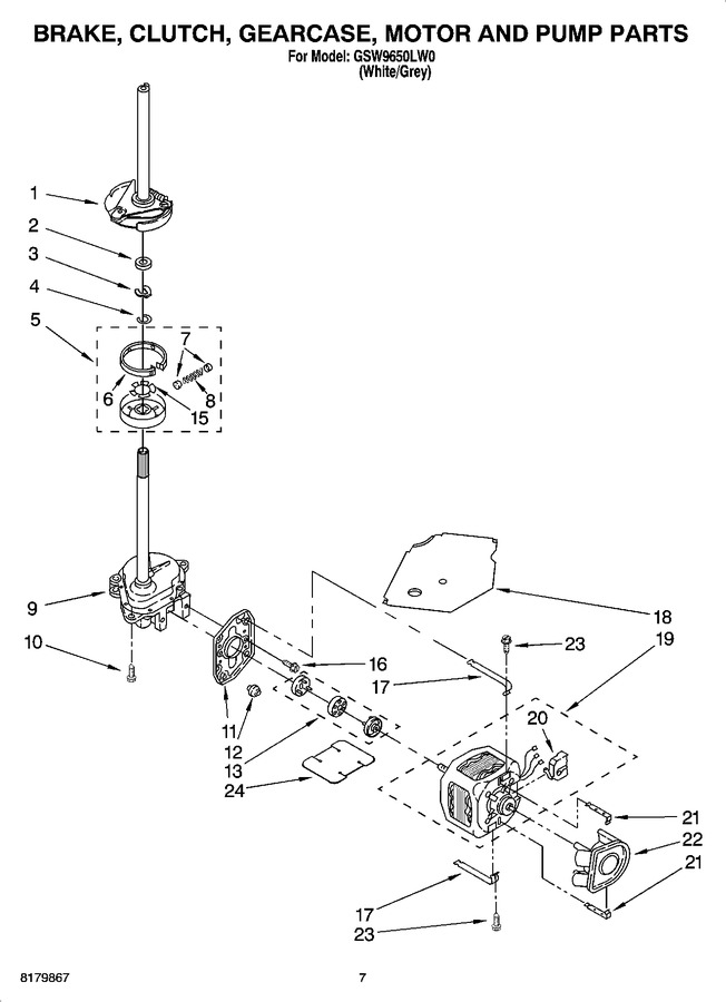 Diagram for GSW9650LW0