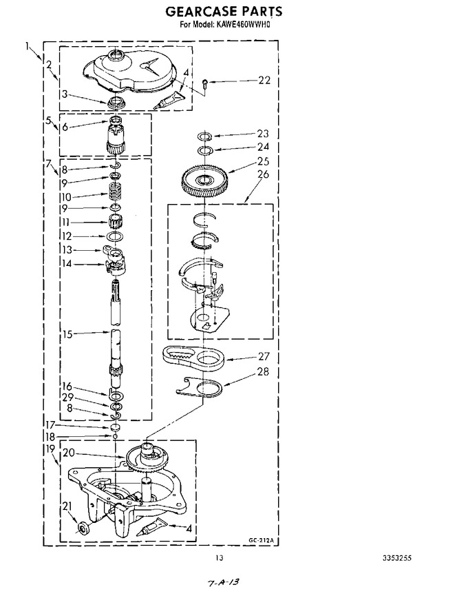Diagram for KAWE460WWH0
