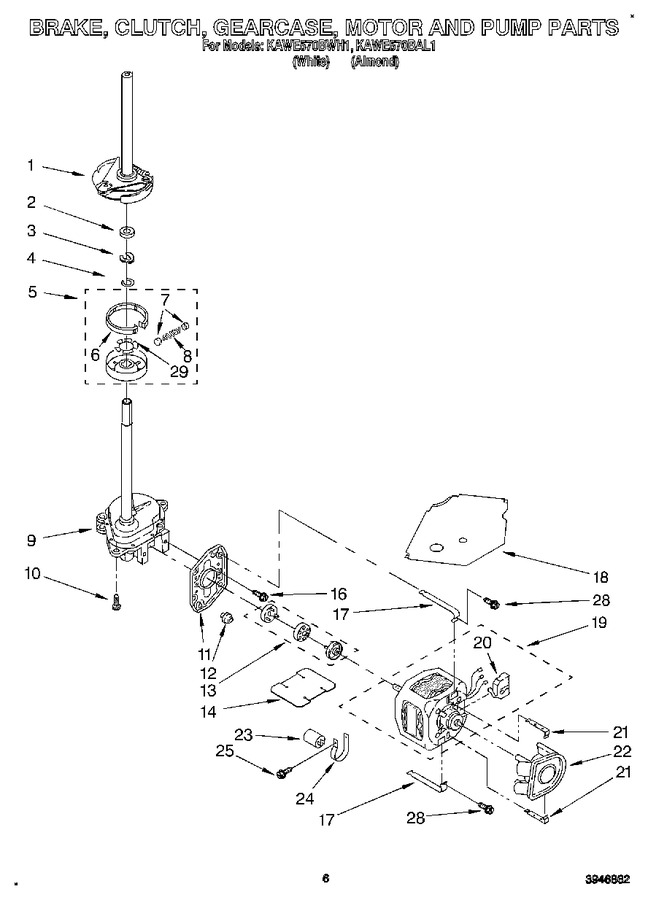 Diagram for KAWE570BAL1