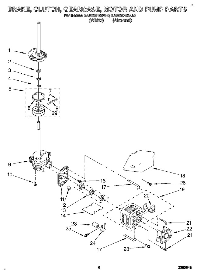 Diagram for KAWE670BAL0