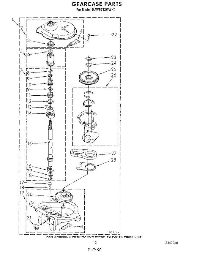 Diagram for KAWE742WWH0