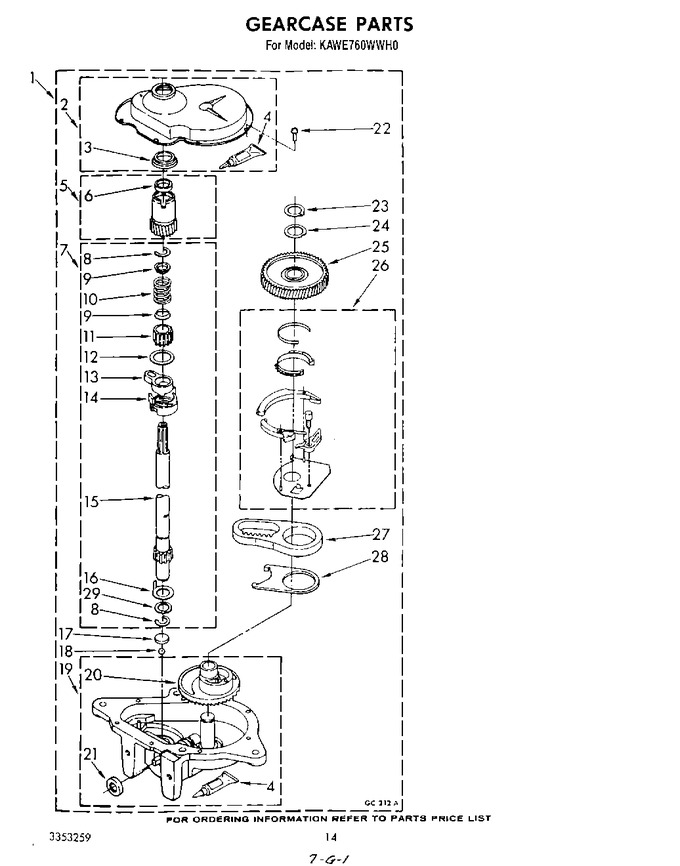 Diagram for KAWE760WWH0