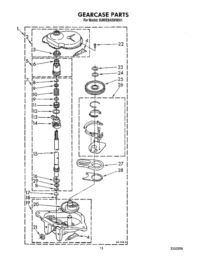 Diagram for KAWE842WAL1