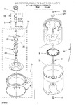 Diagram for 03 - Agitator, Basket, And Tub