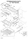 Diagram for 05 - Refrigerator Shelf Parts