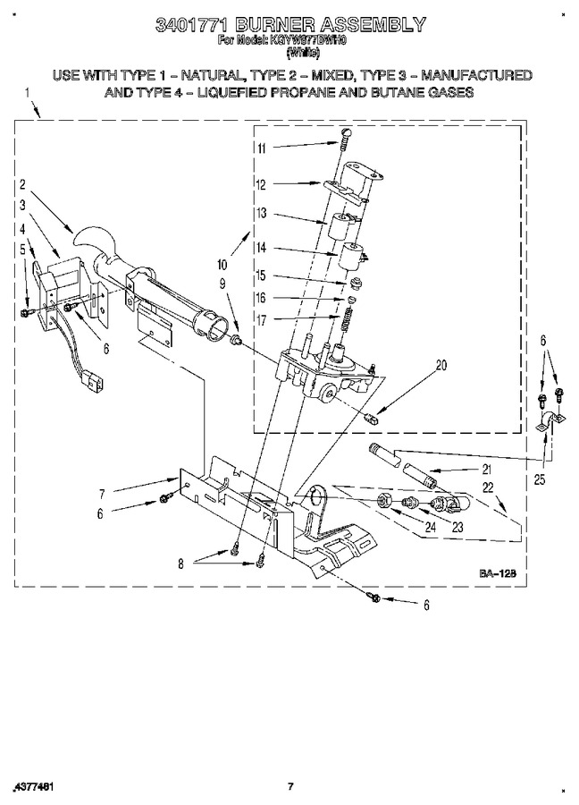 Diagram for KGYW877BWH0