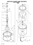 Diagram for 10 - Agitator, Basket And Tub Parts