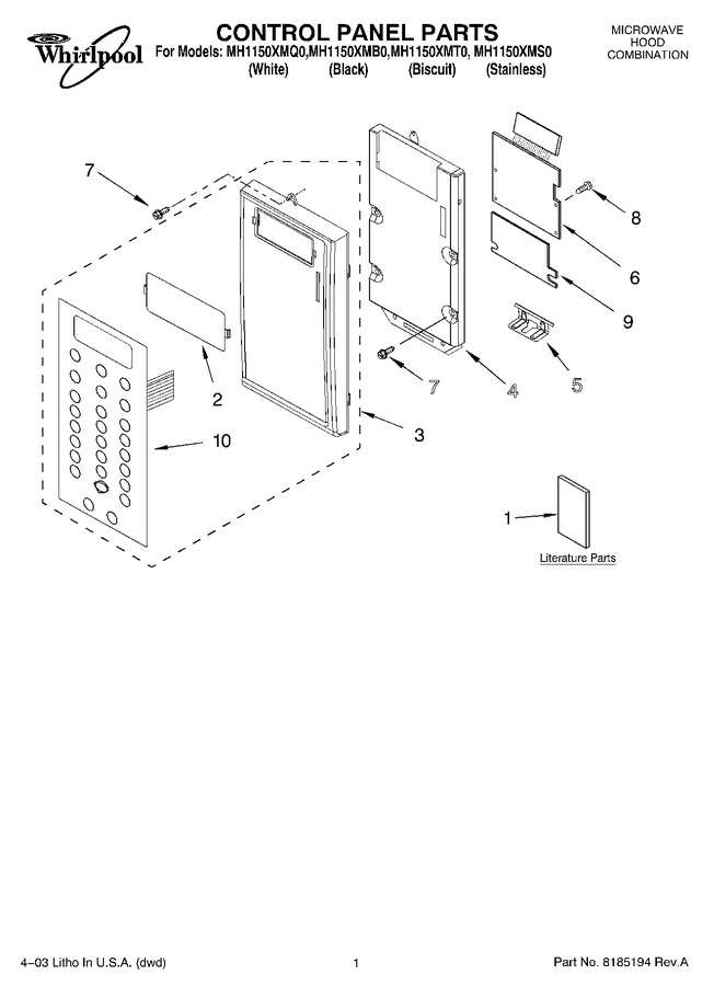 Diagram for MH1150XMT0