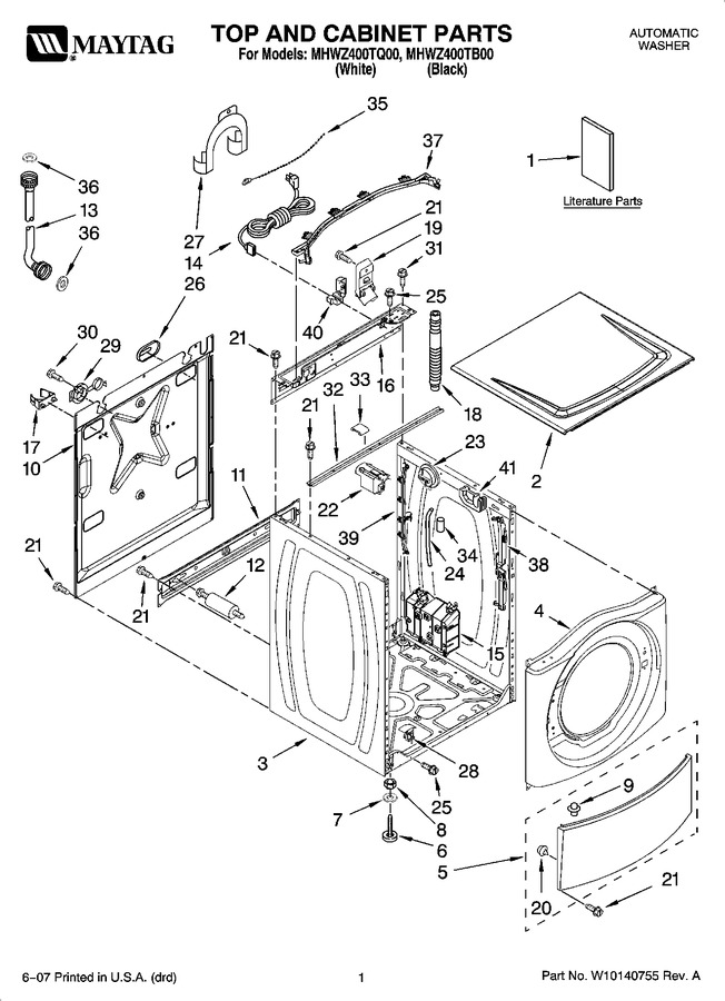 Diagram for MHWZ400TQ00