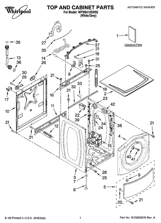 Diagram for WFW8410SW02