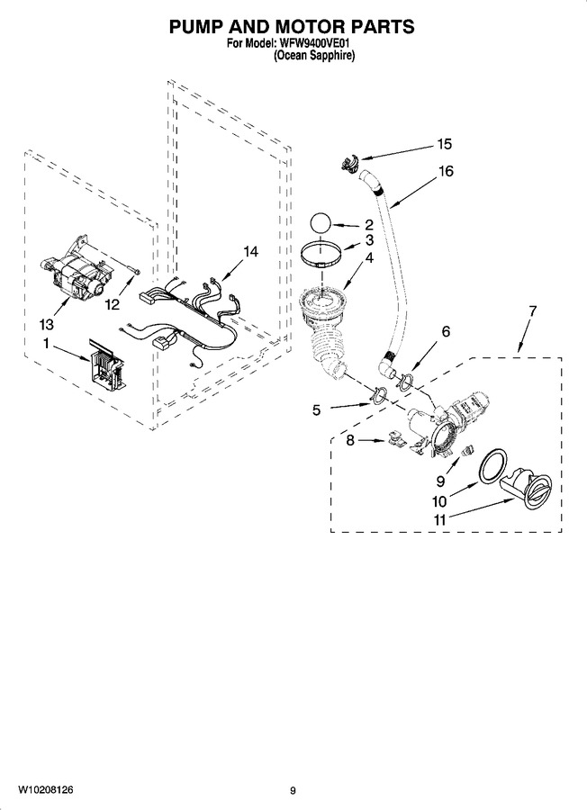 Diagram for WFW9400VE01