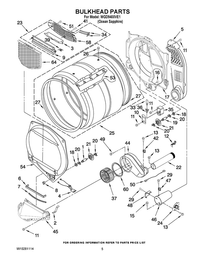 Diagram for WGD9400VE1