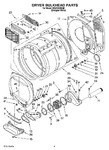 Diagram for 04 - Dryer Bulkhead Parts