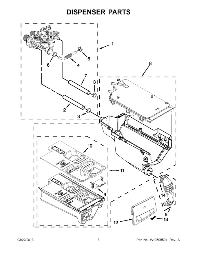 Diagram for WFW8640BW0