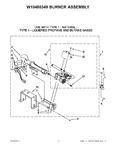 Diagram for 05 - W10480349 Burner Assembly
