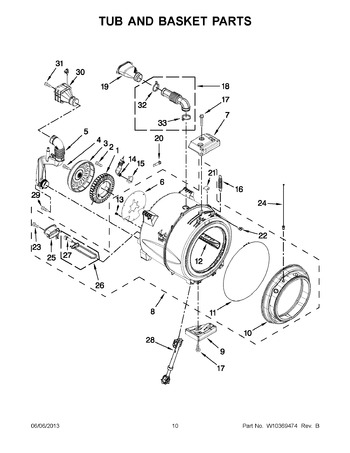 Diagram for WFW97HEXW1