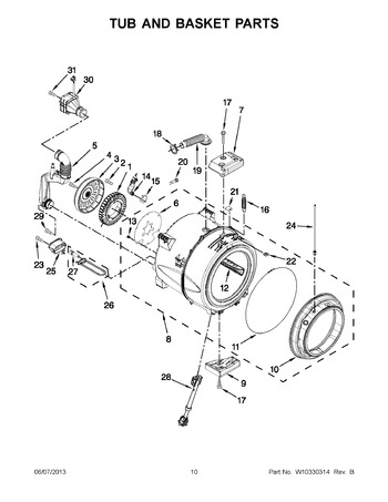 Diagram for WFW97HEXL0