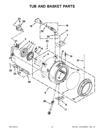 Diagram for WFW95HEXW1