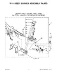 Diagram for 05 - W10135231 Burner Assembly Parts