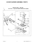 Diagram for 04 - 8318272 Burner Assembly Parts