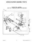 Diagram for 04 - 8576353 Burner Assembly Parts