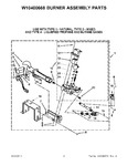 Diagram for 05 - W10400668 Burner Assembly Parts