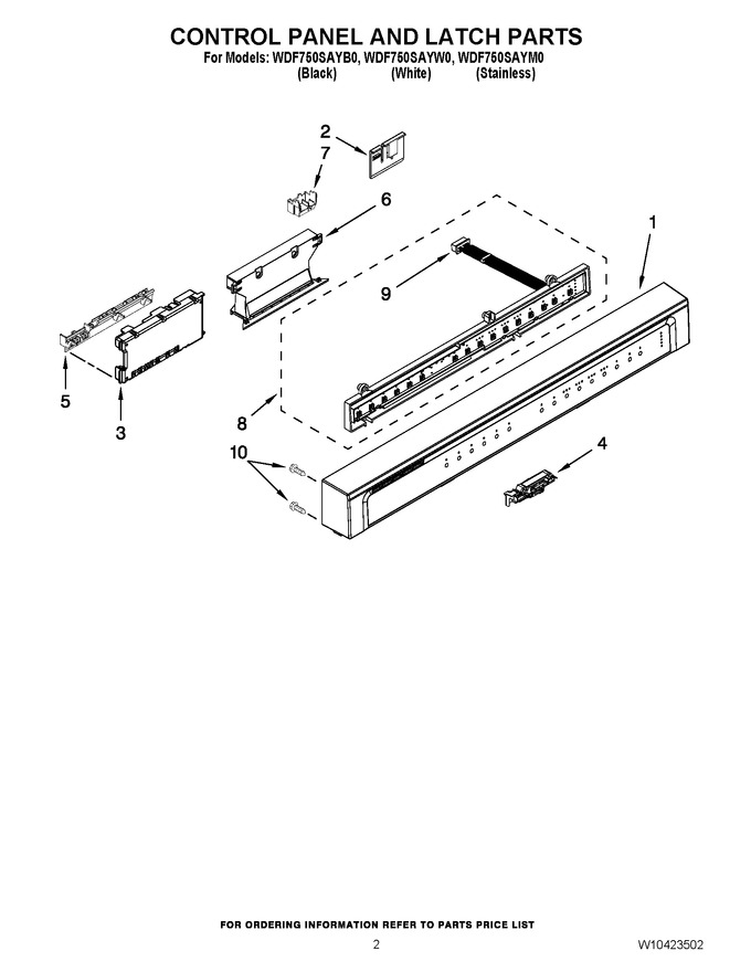 Diagram for WDF750SAYW0
