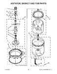 Diagram for 11 - Agitator, Basket And Tub Parts