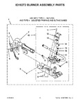 Diagram for 05 - 8318272 Burner Assembly Parts
