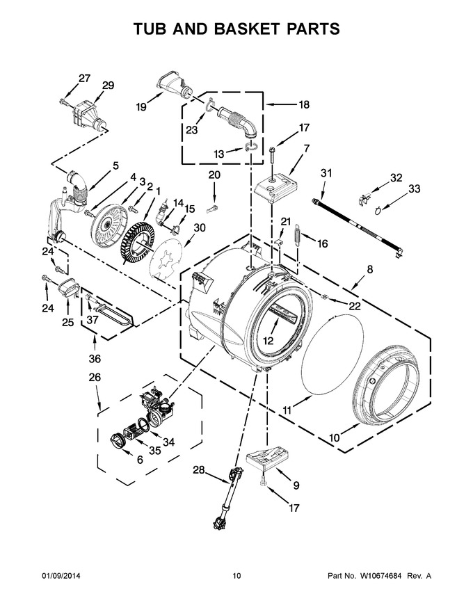 Diagram for WFW8640BW2