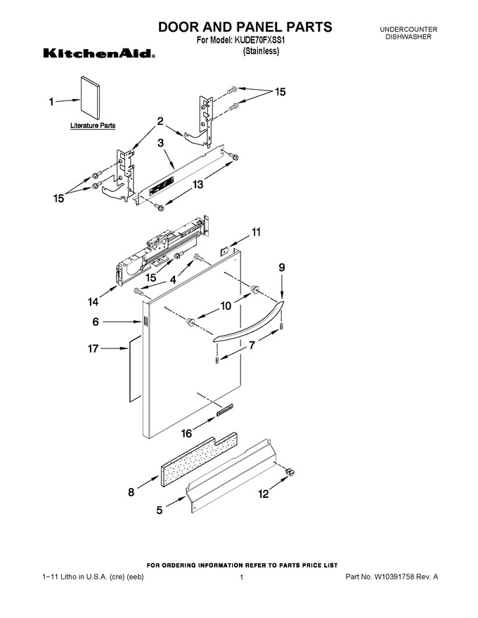 Diagram for KUDE70FXSS1