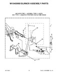 Diagram for 10 - W10400668 Burner Assembly Parts